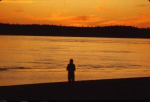 sunset Masset inlet